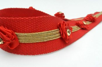 DIY Embellish Red Belt For Girls