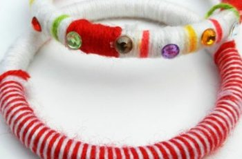 Easy DIY Thread Wrapped Bangles Idea