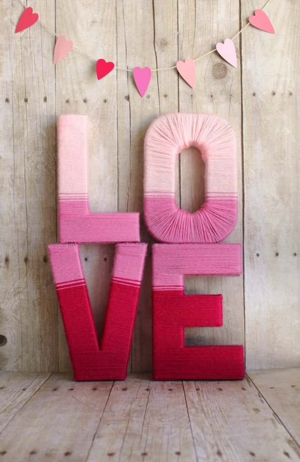 20 Cute DIY Valentine Decorations for Your Home [Images]